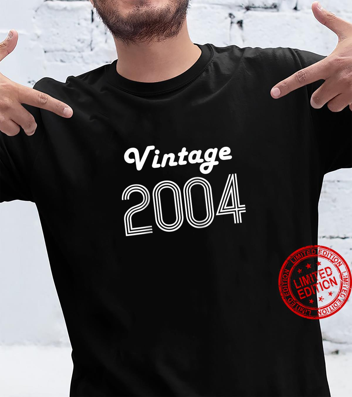 17th Birthday Boy Girl Teens 17 Year Old Vintage 2004 Shirt