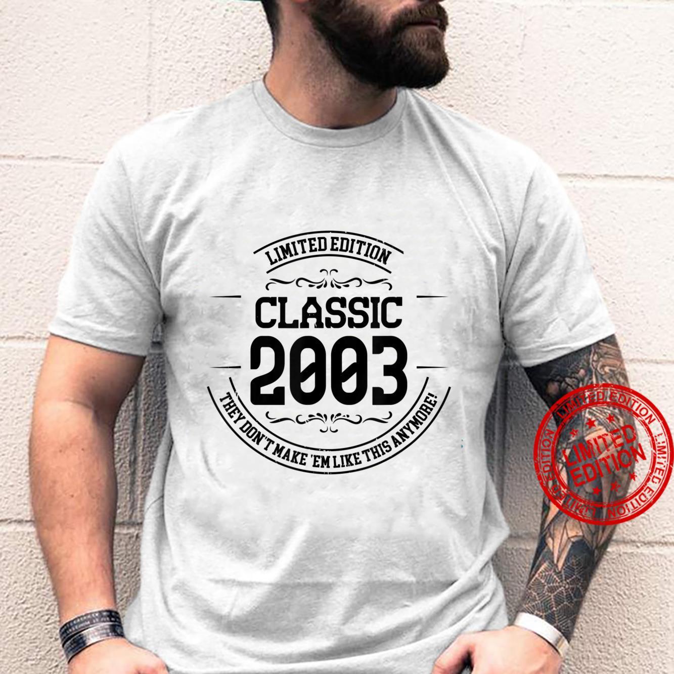 18th Birthday Design for Everyone Born in 2003 Shirt