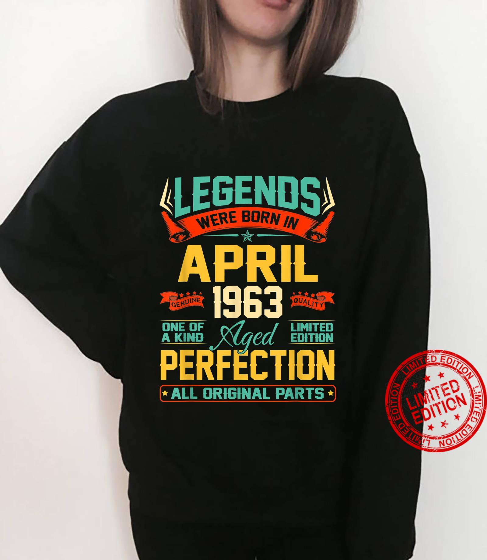 April 1963 58th Birthday 58 Year Old Shirt sweater
