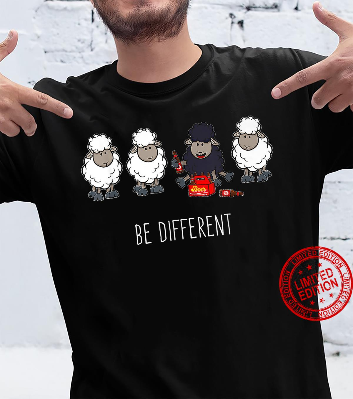 Be Different Beer Drinking Black Sheep for Beer Shirt