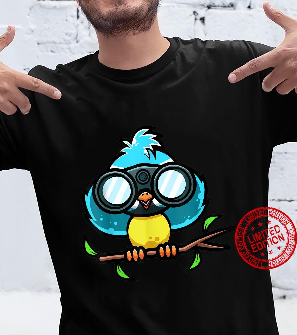 Bird Watching Bluetit Bird Design for a Bird Nerd Shirt