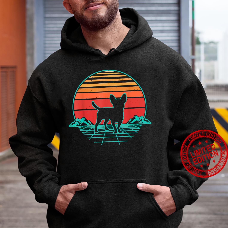 Chihuahua Hund Welpe Retro Vintage Sunset Geschenk Shirt hoodie