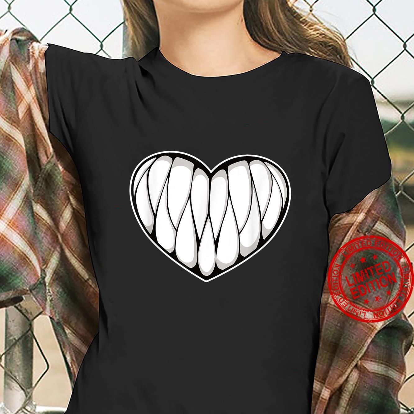 Creepy Kawaii Monsterth Heart Halloween Cute Pastel Goth Shirt ladies tee