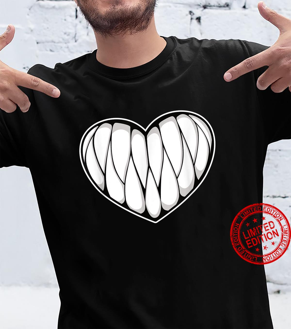 Creepy Kawaii Monsterth Heart Halloween Cute Pastel Goth Shirt