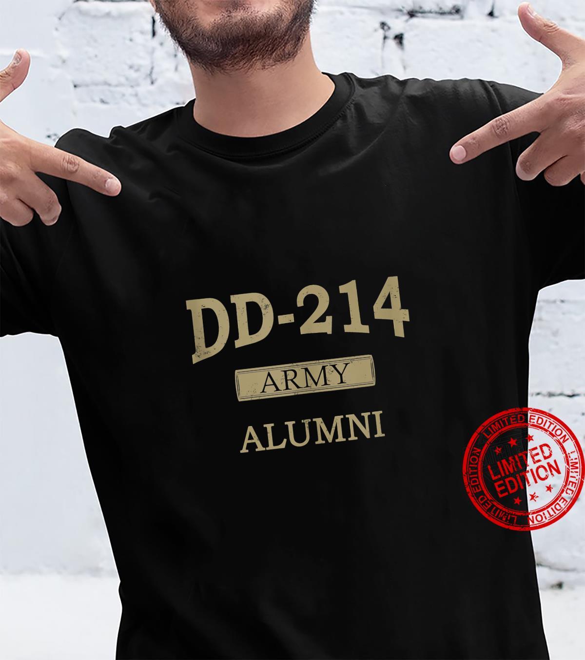 DD214 US Army Alumni Vintage Veteran Retired Military Shirt