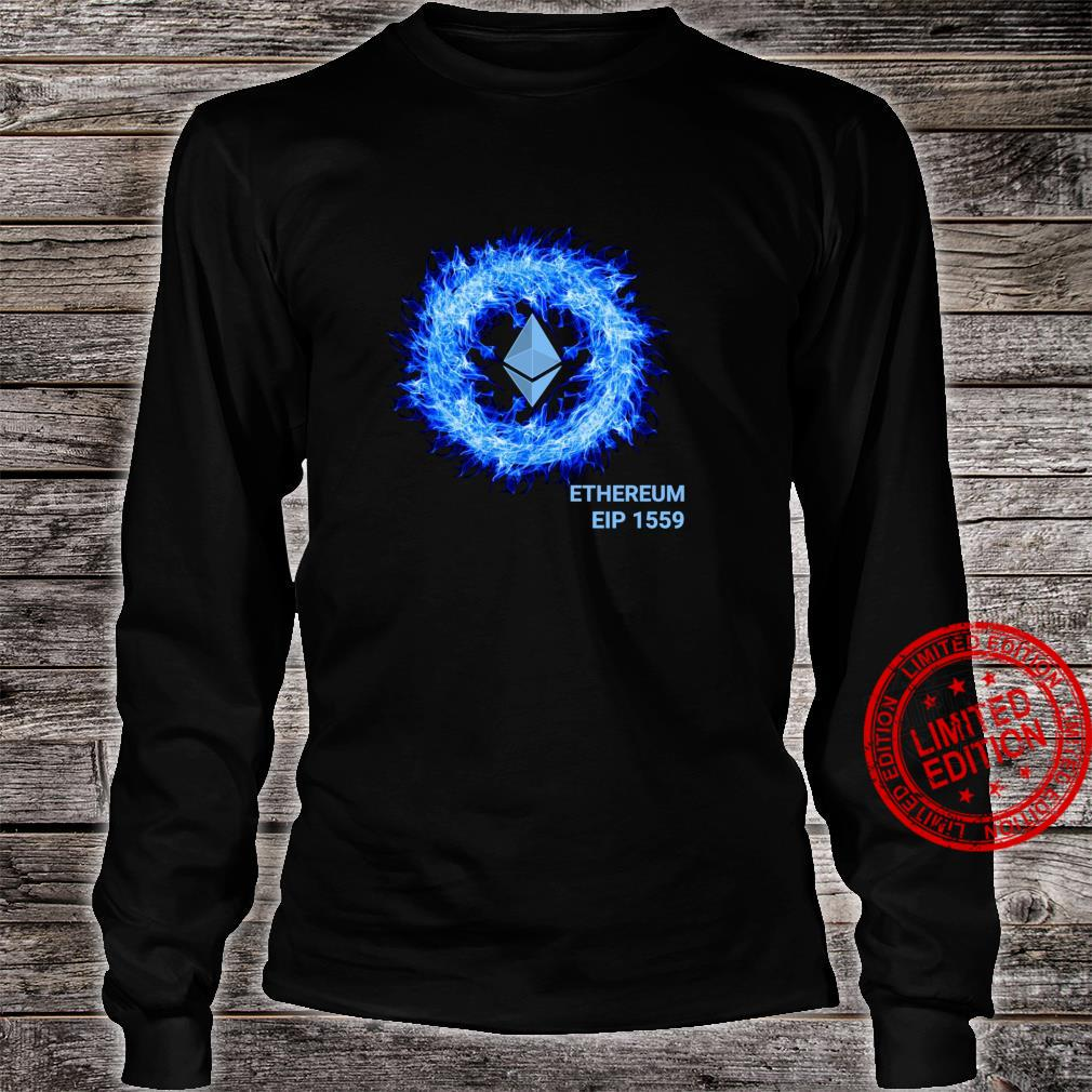 Ethereum in Blue Flames EIP 1559 ETH Burning Proposal Shirt long sleeved