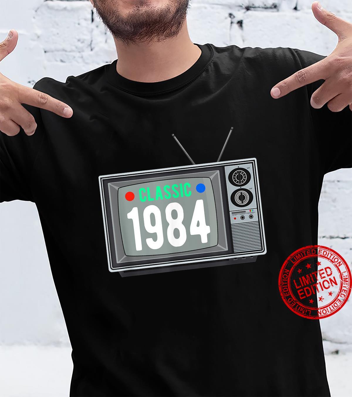 Funny Classic 1984 Shirt Vintage TV 37th Birthday Shirt Shirt
