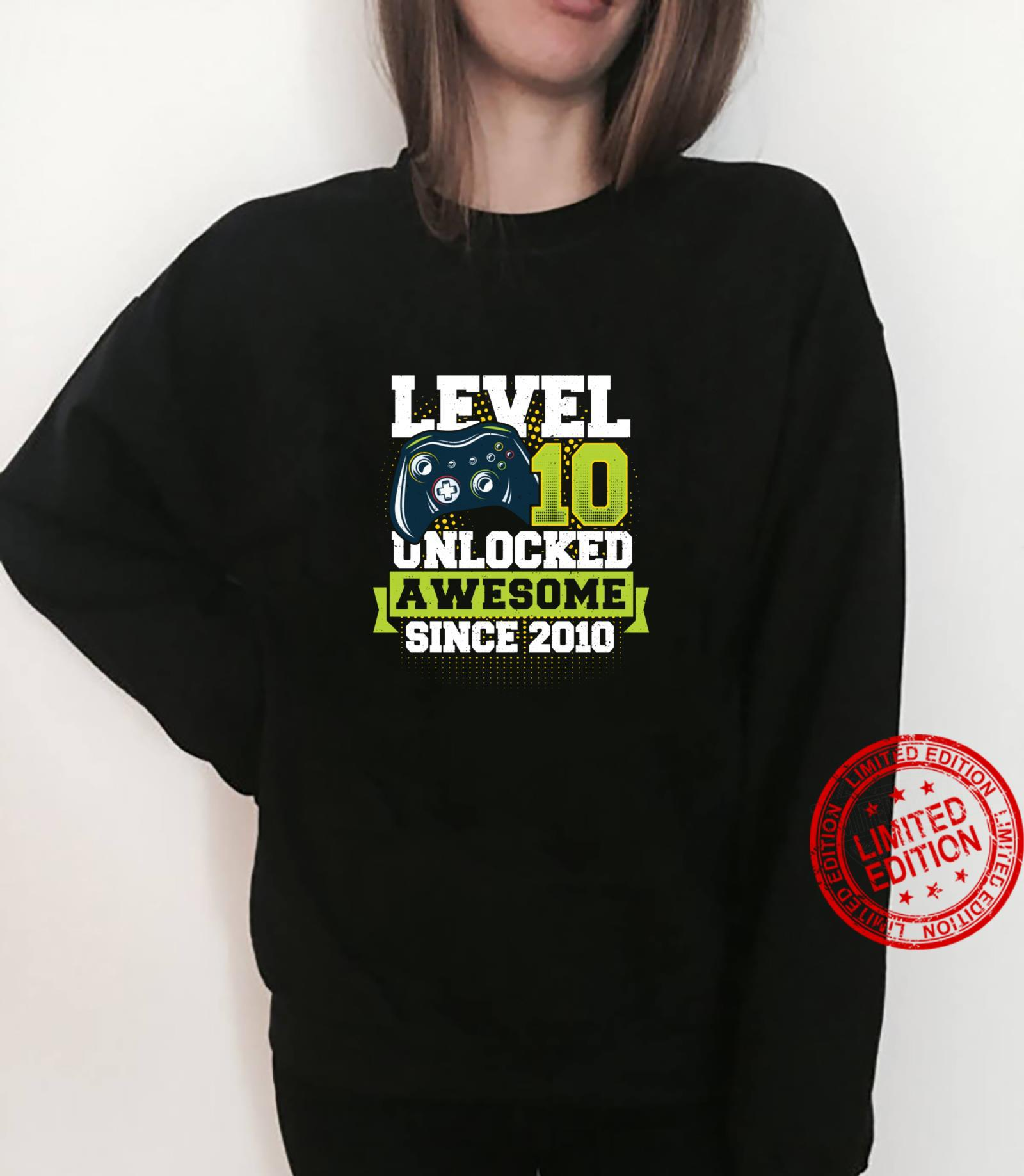Gaming Level 10 Unlocked Awesome Since 2010 2010 Shirt sweater