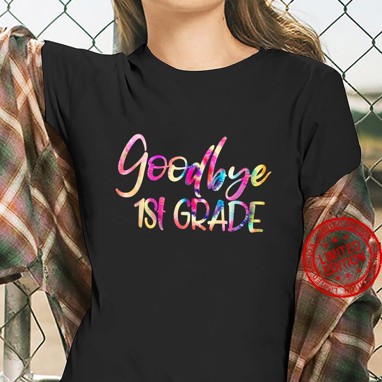 Goodbye First Grade Straight Outta First Grade Class Of 2021 Shirt ladies tee