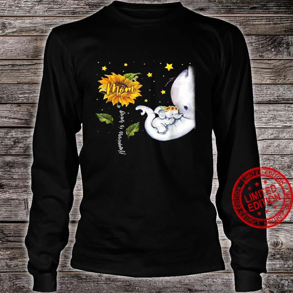 Happiness Is Being A Mom Elephant Mother's Day Shirt long sleeved