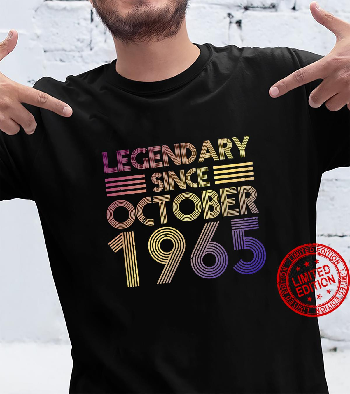 Legendary Since October 1965 56 Years Old Birthday 56th Bday Shirt