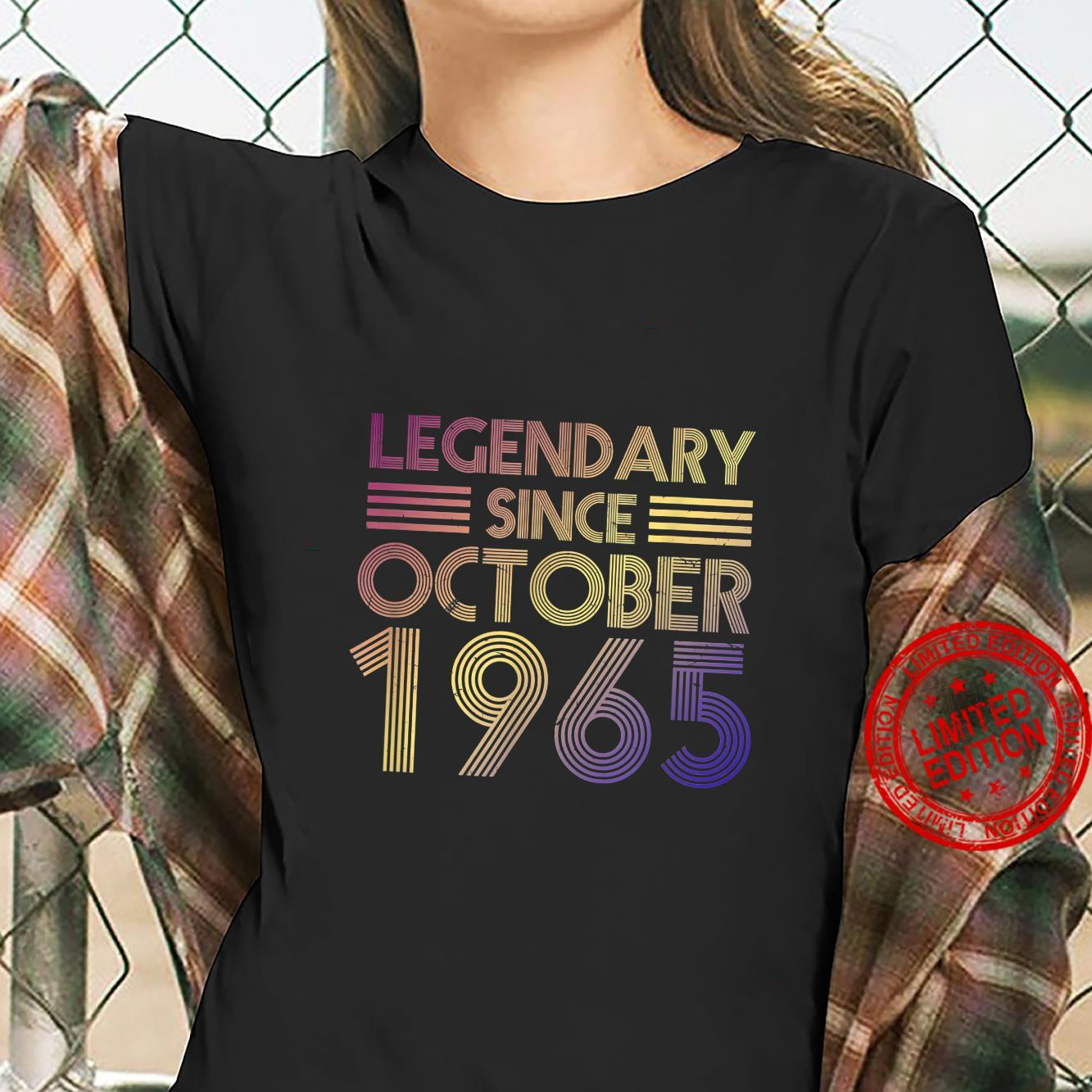 Legendary Since October 1965 56 Years Old Birthday 56th Bday Shirt ladies tee