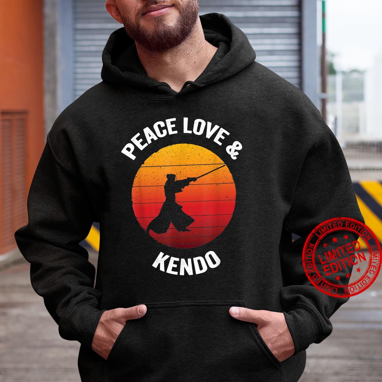 Peace Love & Kendo Vintage Japanese Bamboo Sword Shirt hoodie