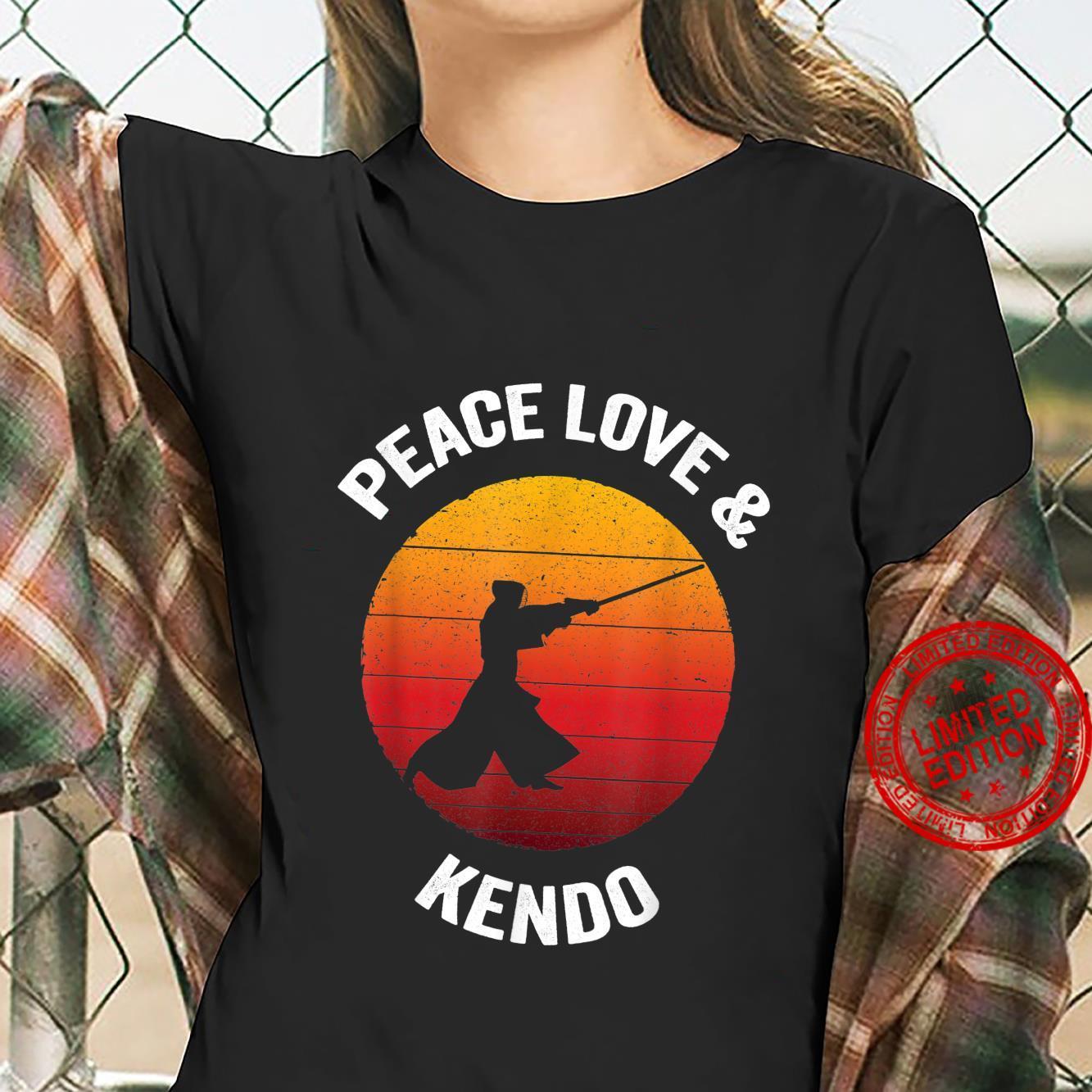 Peace Love & Kendo Vintage Japanese Bamboo Sword Shirt ladies tee