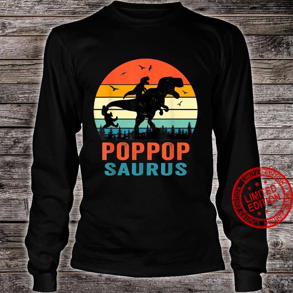 Poppopsaurus T Rex Dinosaur Poppop Saurus Family Shirt long sleeved