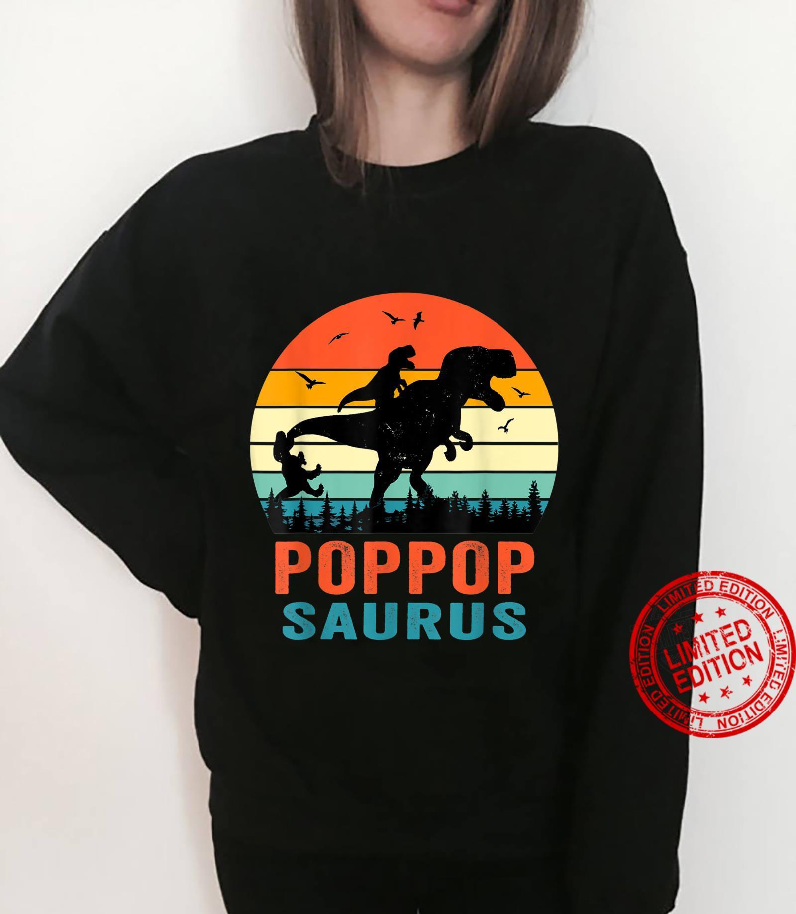 Poppopsaurus T Rex Dinosaur Poppop Saurus Family Shirt sweater