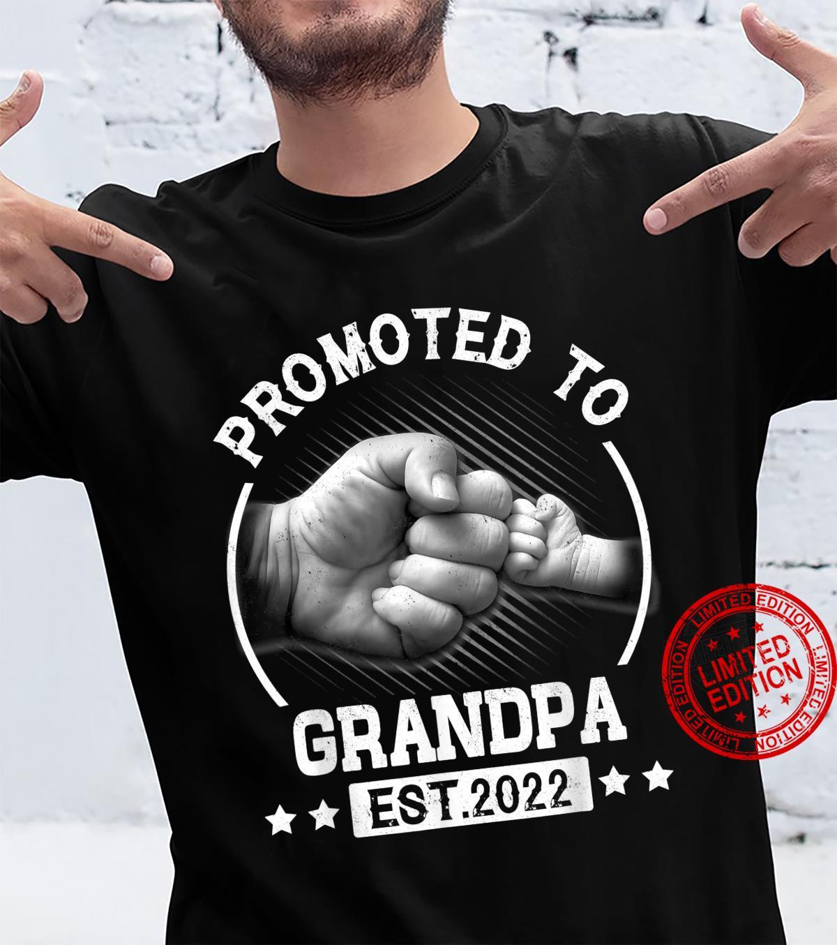 Promoted to Grandpa EST 2022 Vintage New Grandpa Shirt