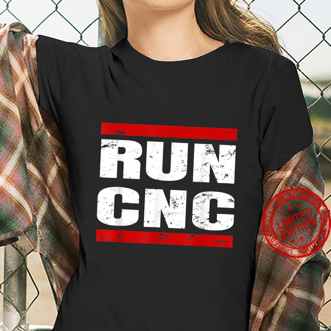 RUN CNC Zerspanungsmechaniker CNC Fräser Programmierer Shirt ladies tee