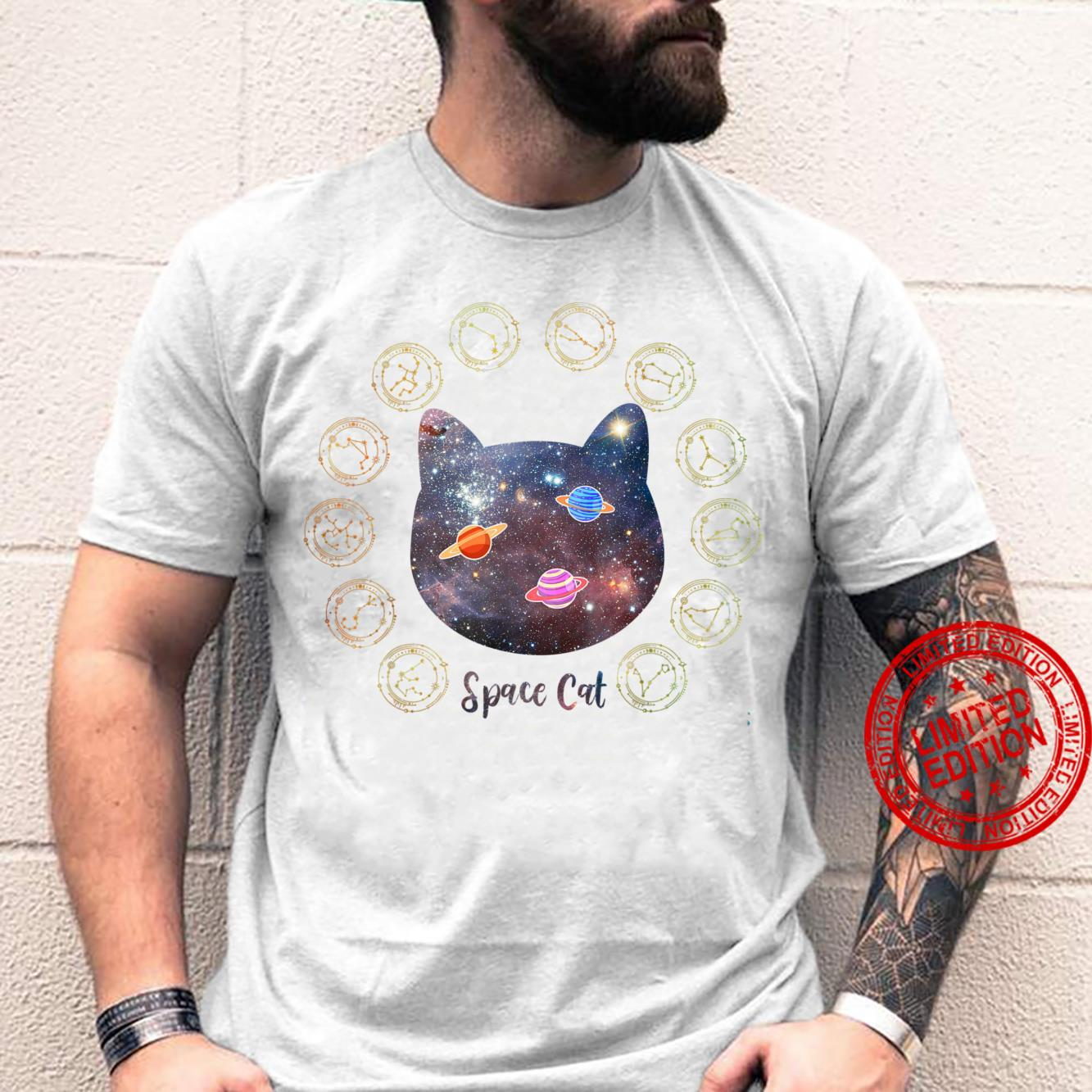 Space Cat Cat Galaxy Cat Animals In Outer Space Shirt