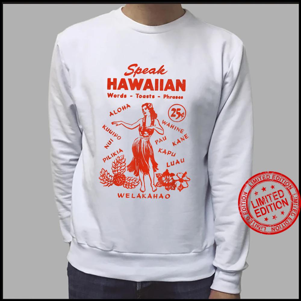 Speak Hawaiian Hawaii Phrasebook 1950s Tiki Style Shirt sweater