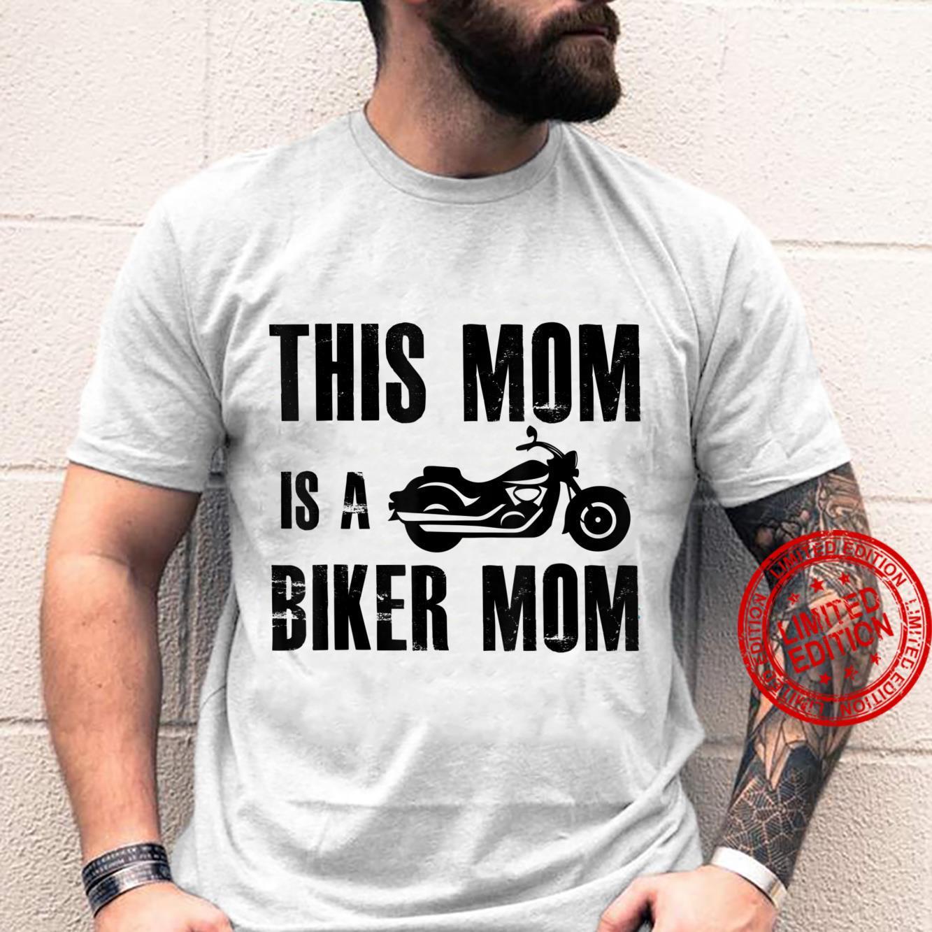 This Mom Is A Biker Mom Biker Motorcycle Shirt