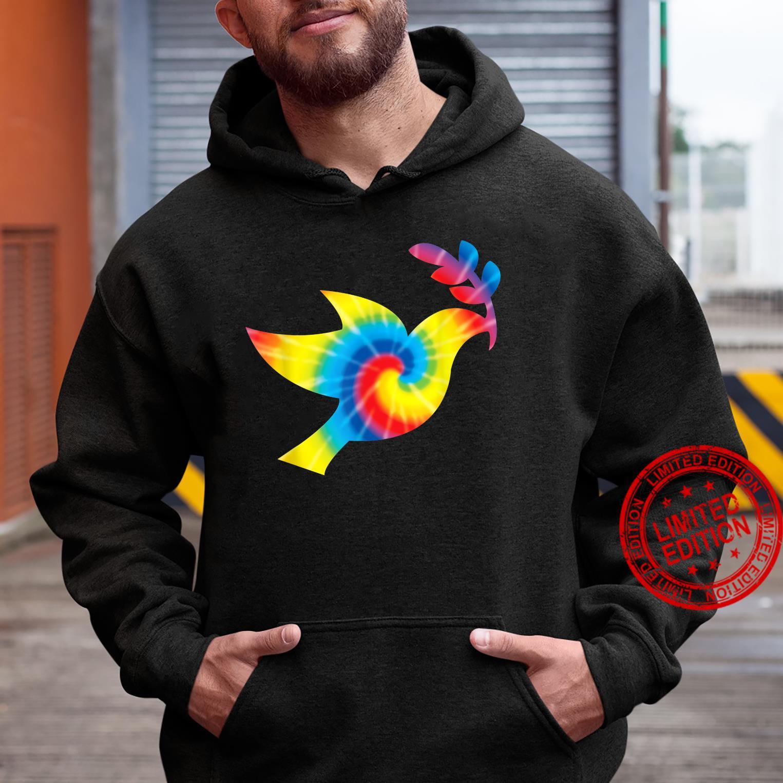 Tie Dye Dove Rainbow Print Pigeon Bird Hippie Peace Shirt hoodie
