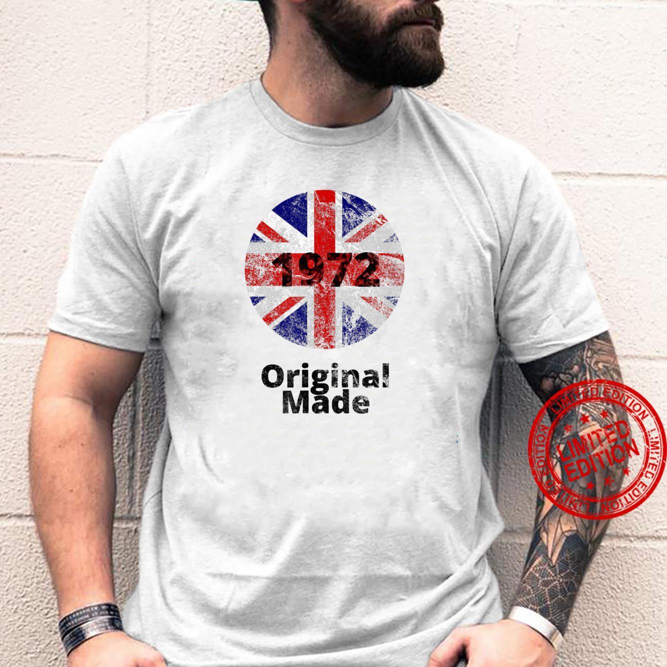 Union Jack 1972 Original Made Logo Retro Vintage Look Shirt