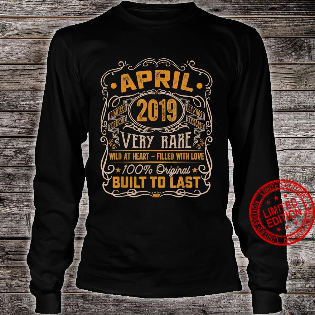 Vintage April 2019 Decorations 2 Years Old 2nd Birthday Shirt long sleeved