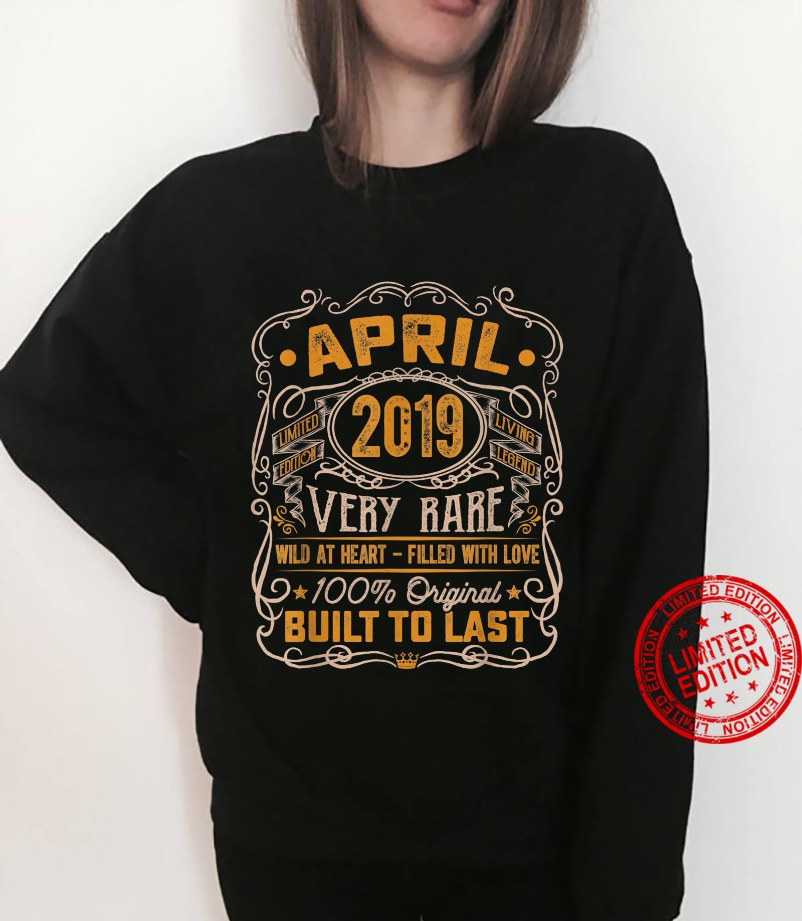 Vintage April 2019 Decorations 2 Years Old 2nd Birthday Shirt sweater