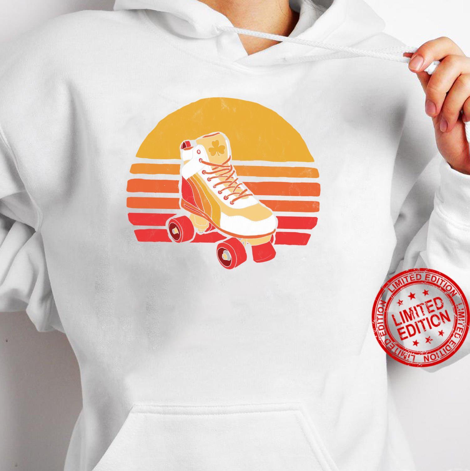 Vintage Distressed Roller Skate Sun Classic Retro Shirt hoodie