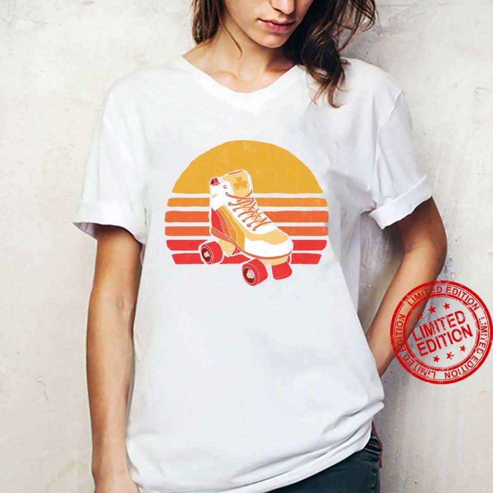 Vintage Distressed Roller Skate Sun Classic Retro Shirt ladies tee