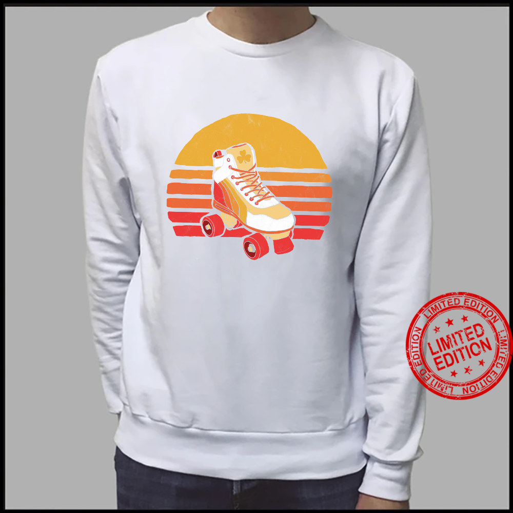 Vintage Distressed Roller Skate Sun Classic Retro Shirt sweater