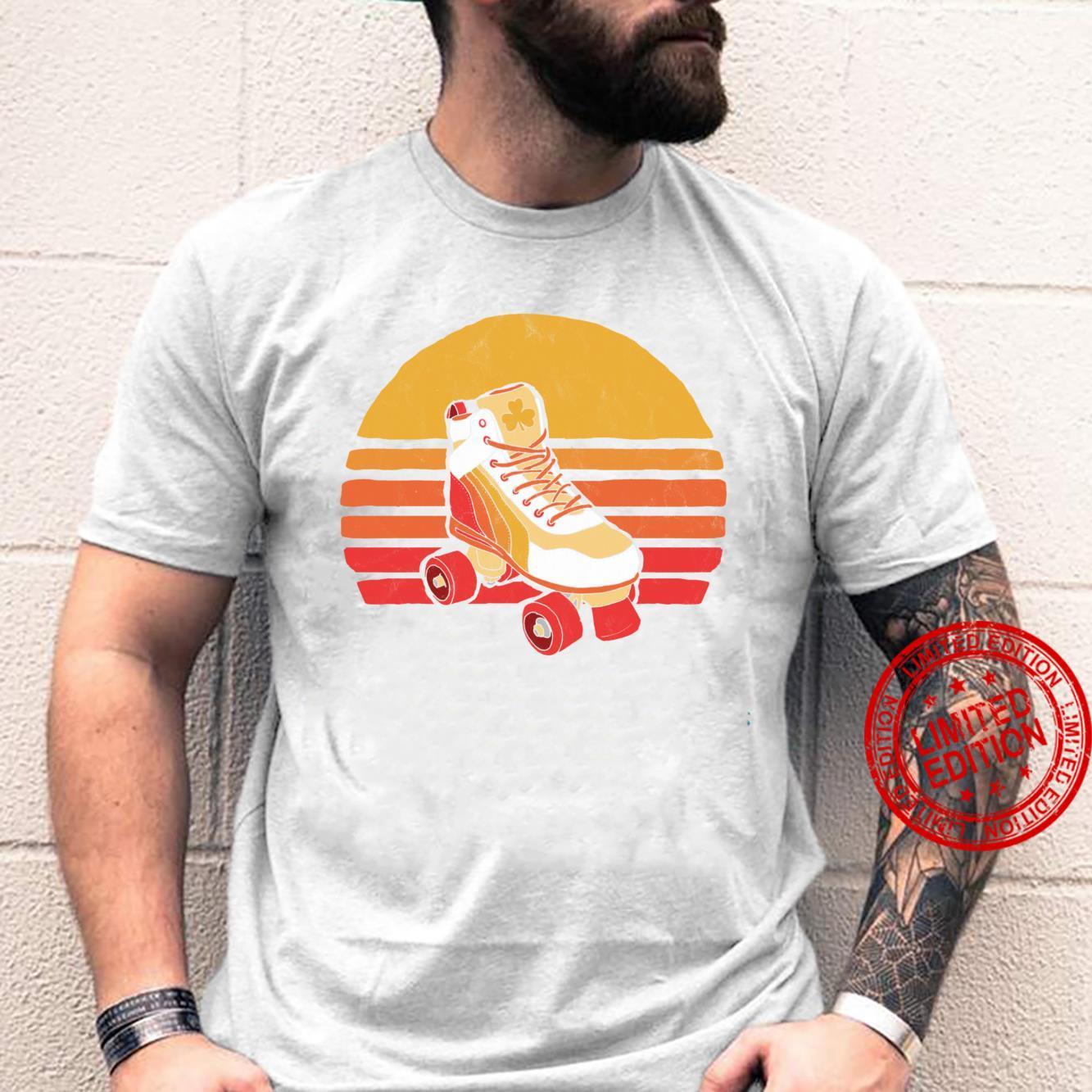 Vintage Distressed Roller Skate Sun Classic Retro Shirt