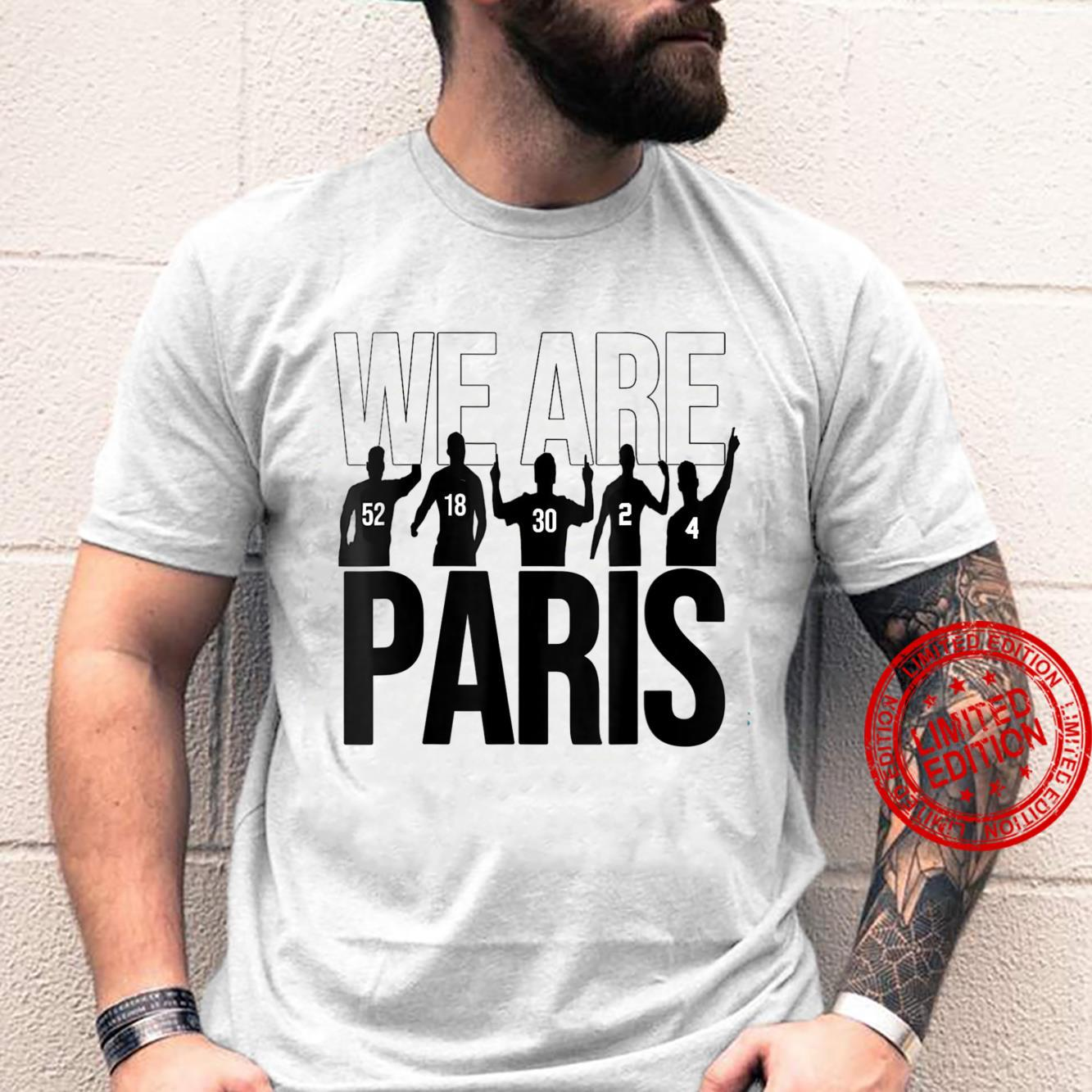 We Are ParisPSGMes.si FanWelcome to Paris Shirt