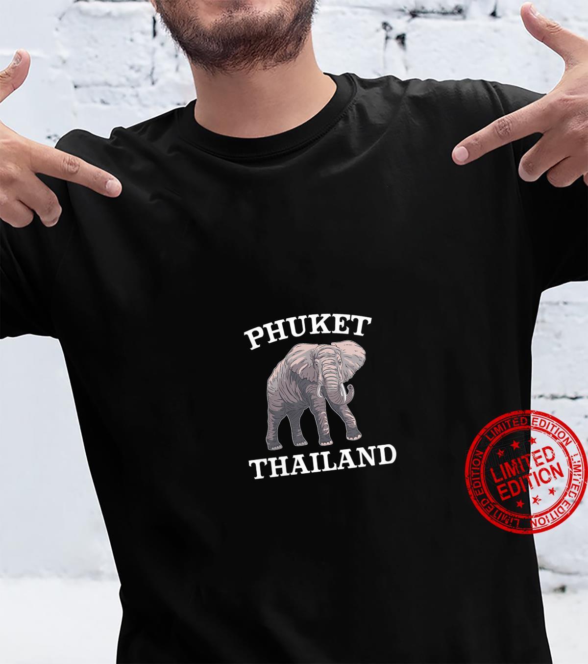 Womens Custom Phuket Elephant Design Limited Thailand Print Shirt
