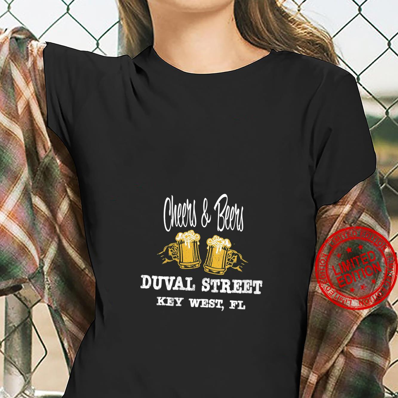 Womens FAMOUS FUN ON DUVAL ST. KEY WEST, FL BEER BOOZE PEOPLE Shirt ladies tee