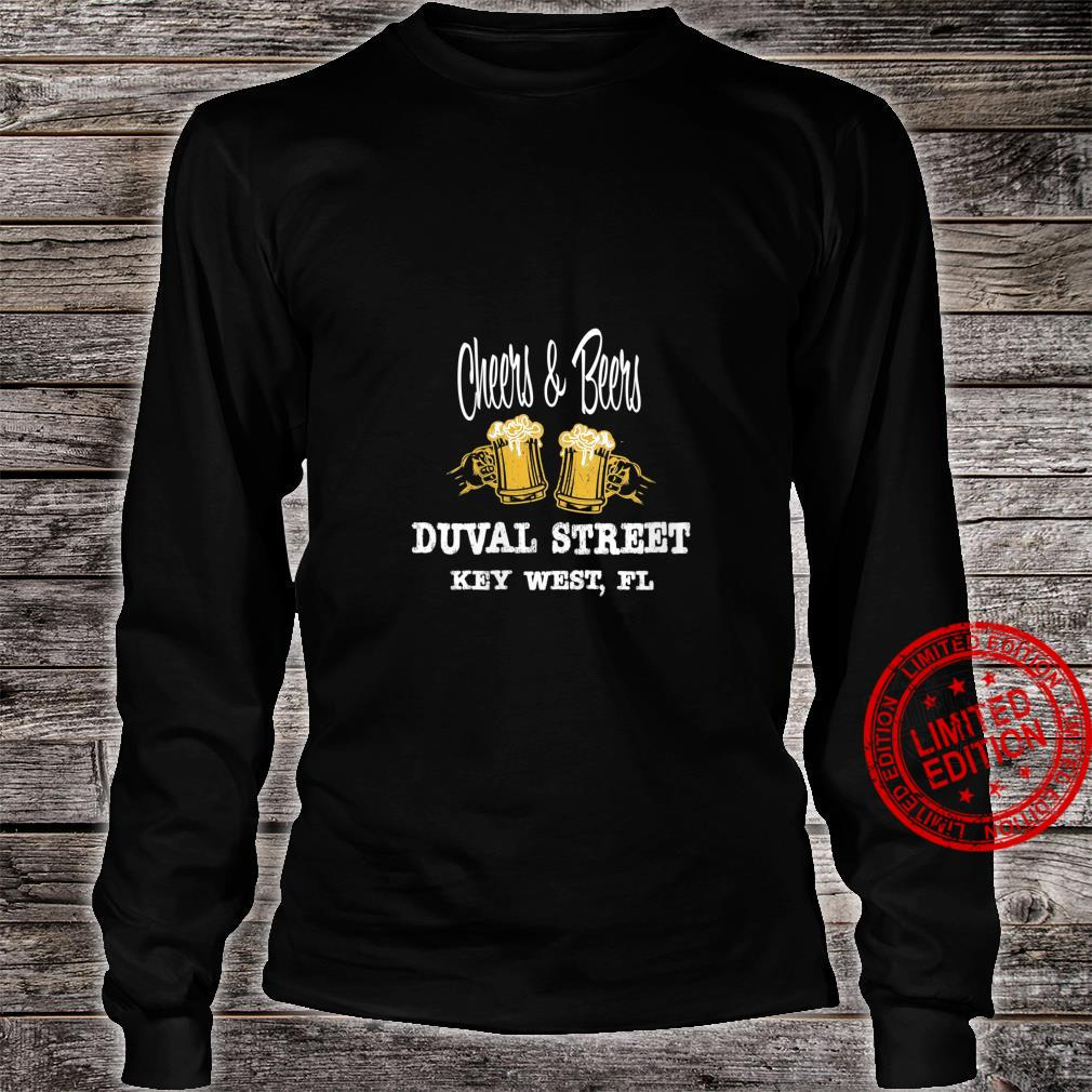 Womens FAMOUS FUN ON DUVAL ST. KEY WEST, FL BEER BOOZE PEOPLE Shirt long sleeved