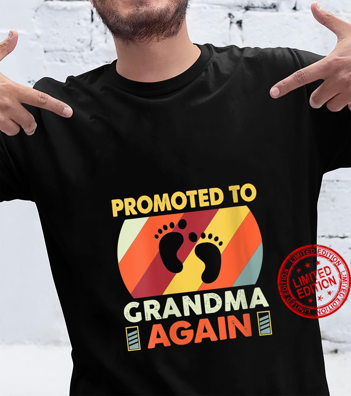 Womens Going To Be Grandma Again Vintage Promoted to Grandma Again Shirt