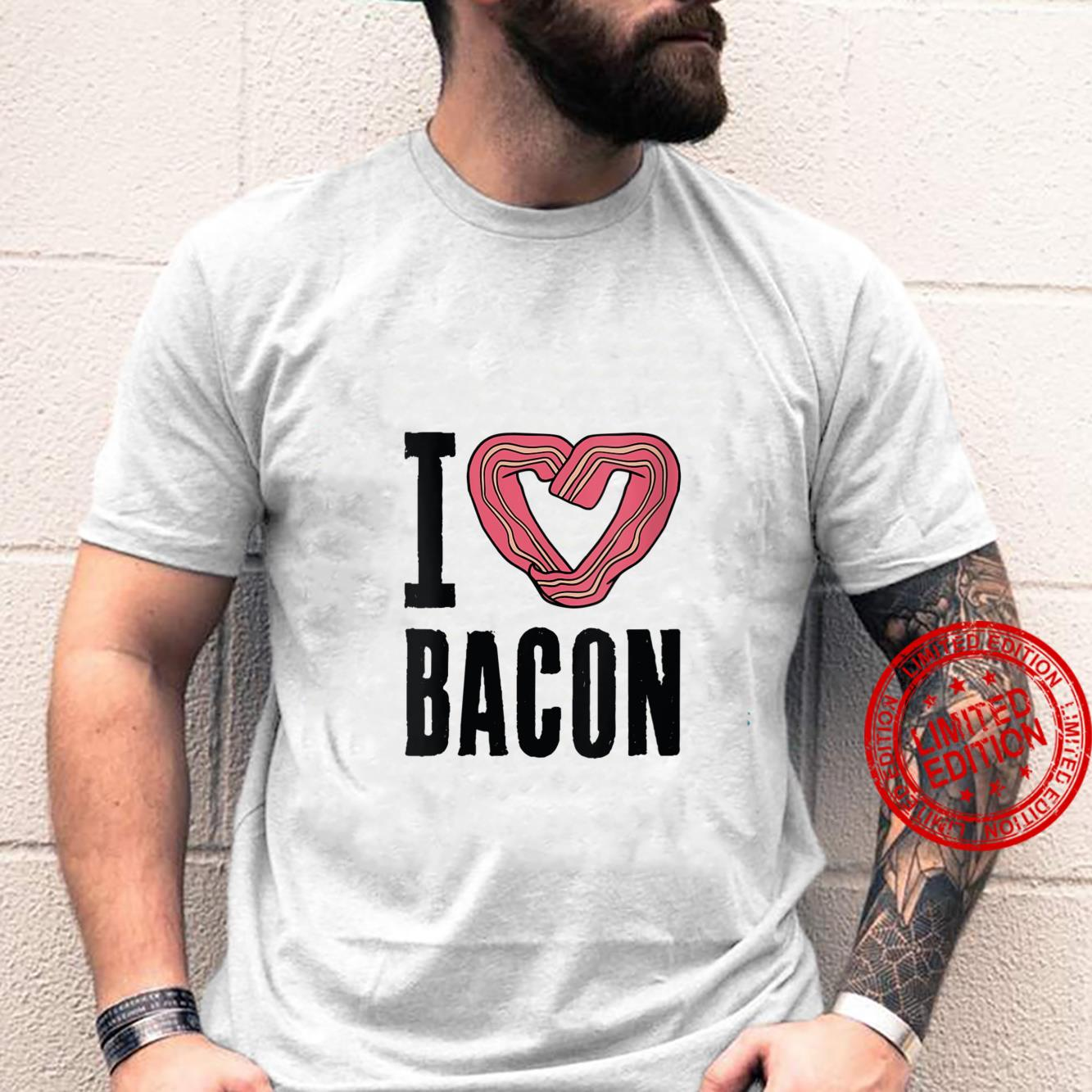 Womens I Love Bacon Breakfast Eggs Meat Cook Chef Eater Shirt