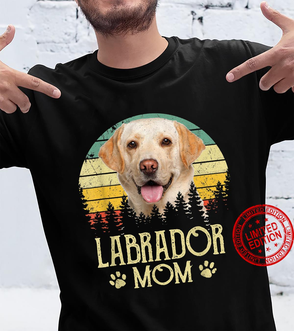 Womens Labrador Mom Dog Dog Mom Dog Dad Shirt