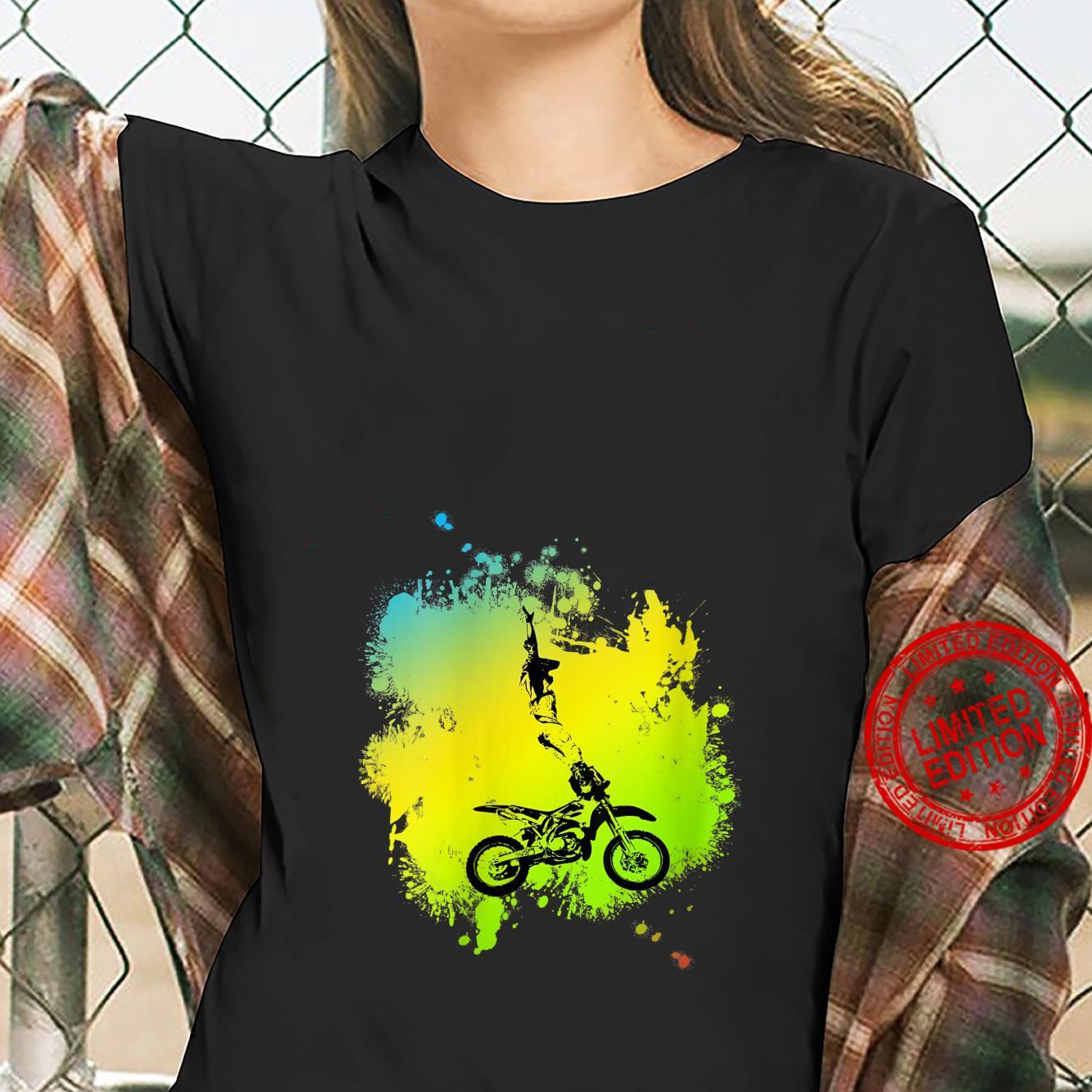 Womens Motocross Dirt Bike stunt Shirt ladies tee