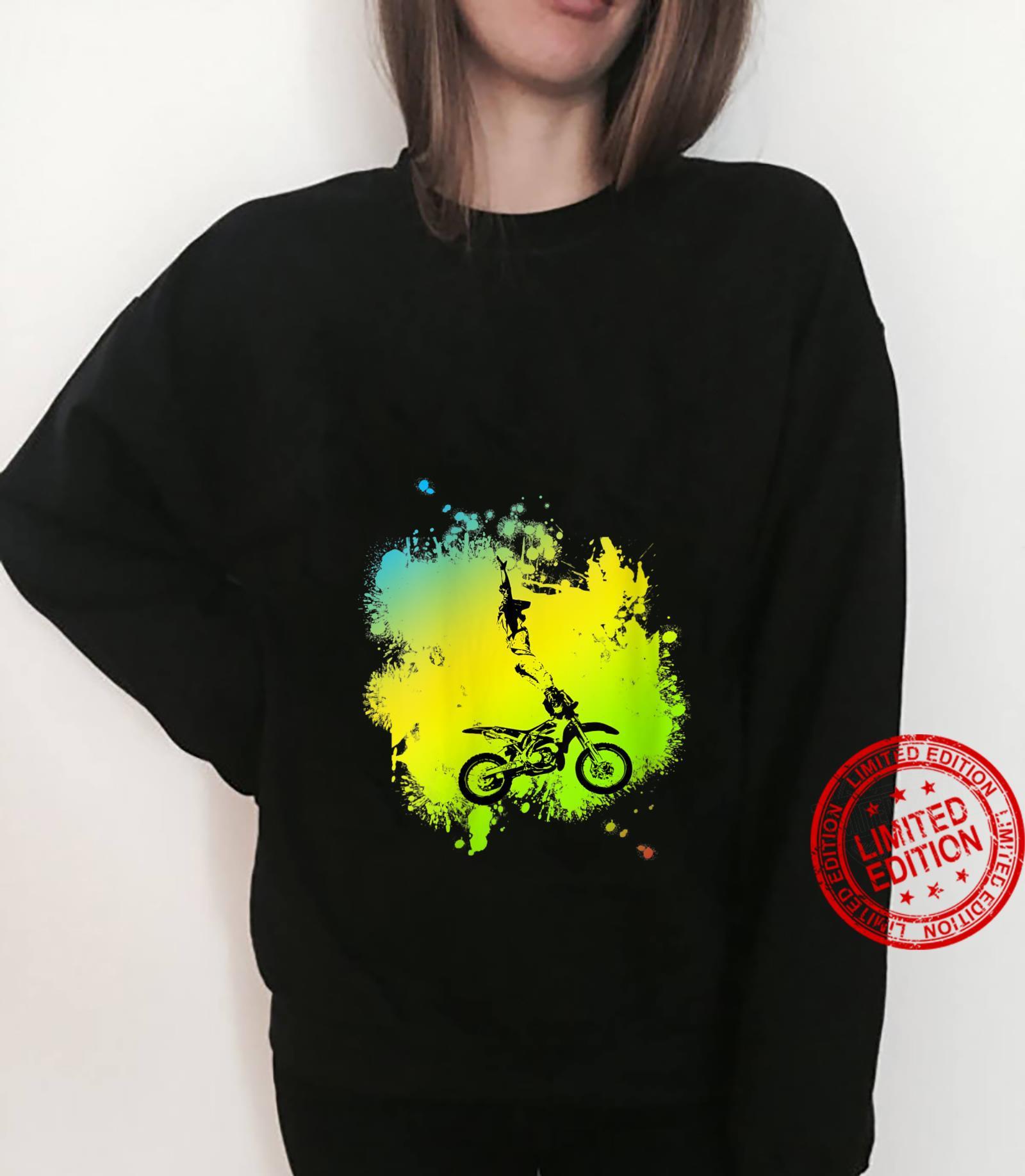 Womens Motocross Dirt Bike stunt Shirt sweater