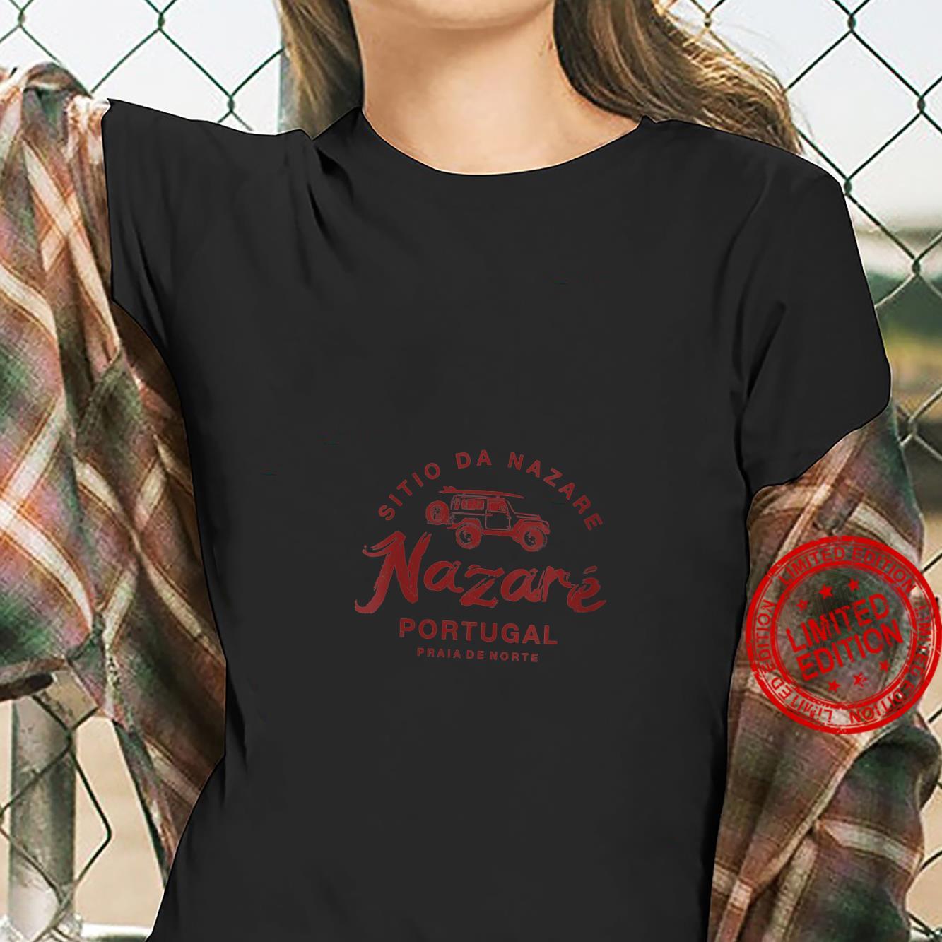 Womens Nazare Portugal Surfing Vintage Retro Shirt ladies tee