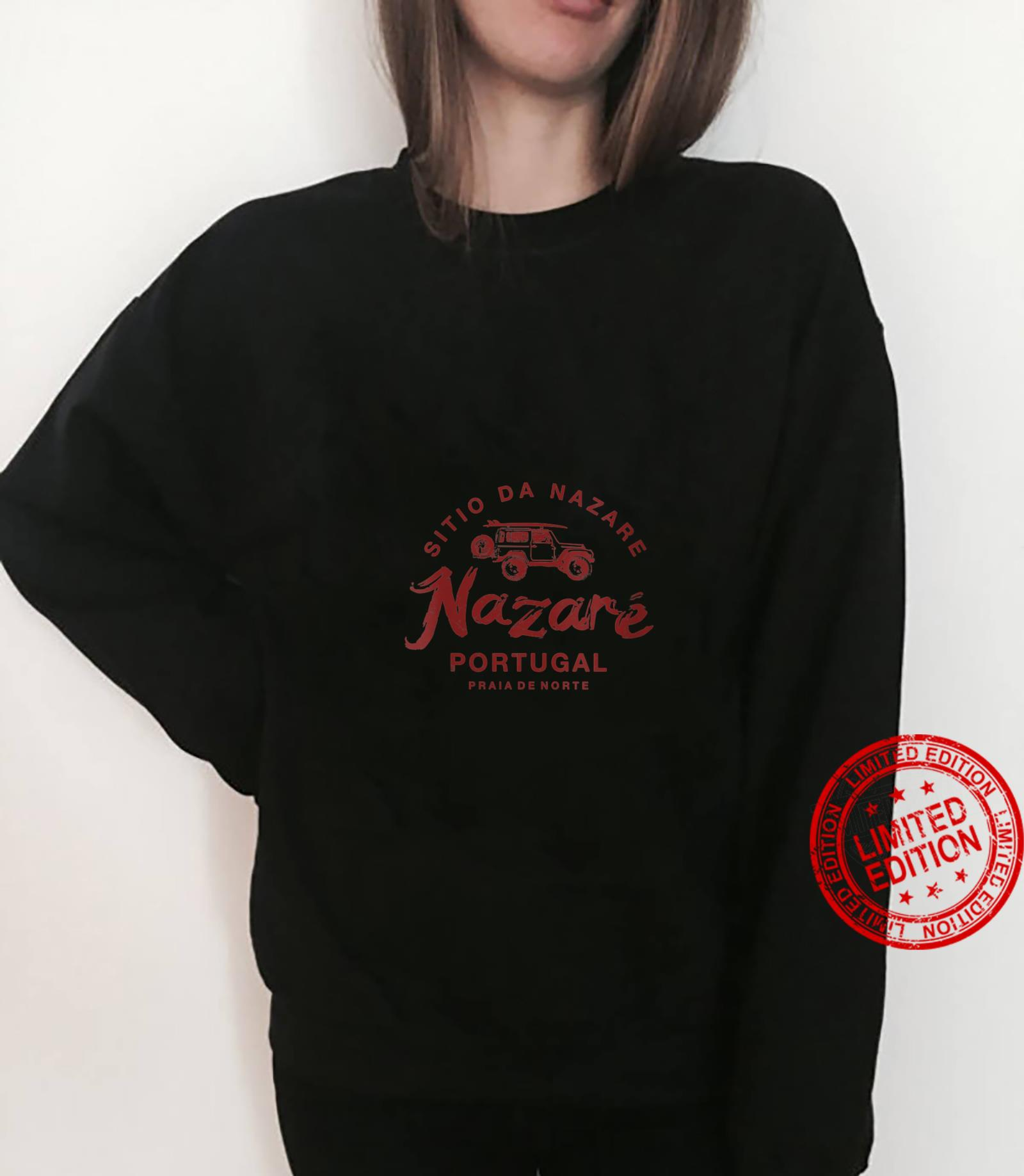 Womens Nazare Portugal Surfing Vintage Retro Shirt sweater