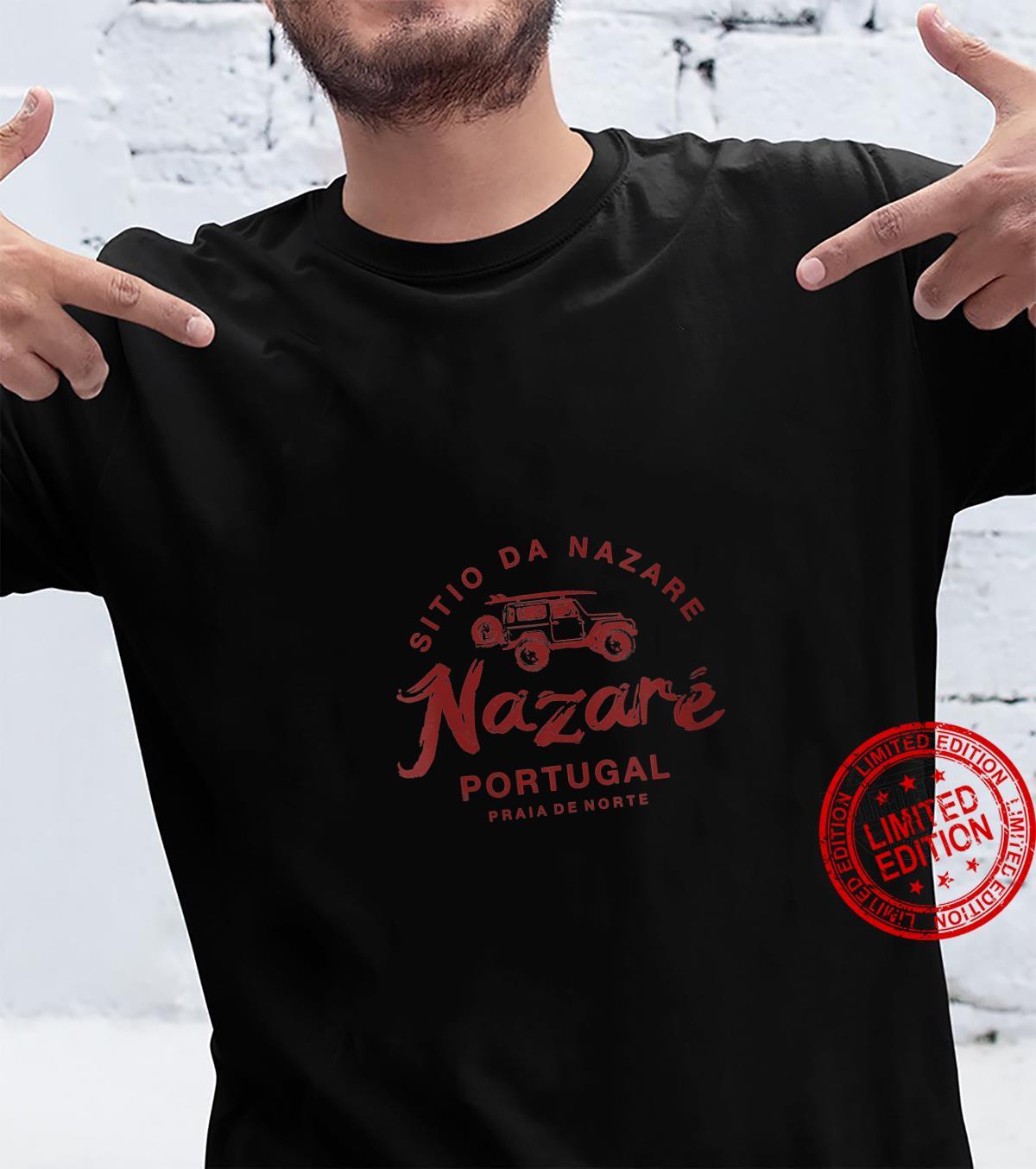 Womens Nazare Portugal Surfing Vintage Retro Shirt