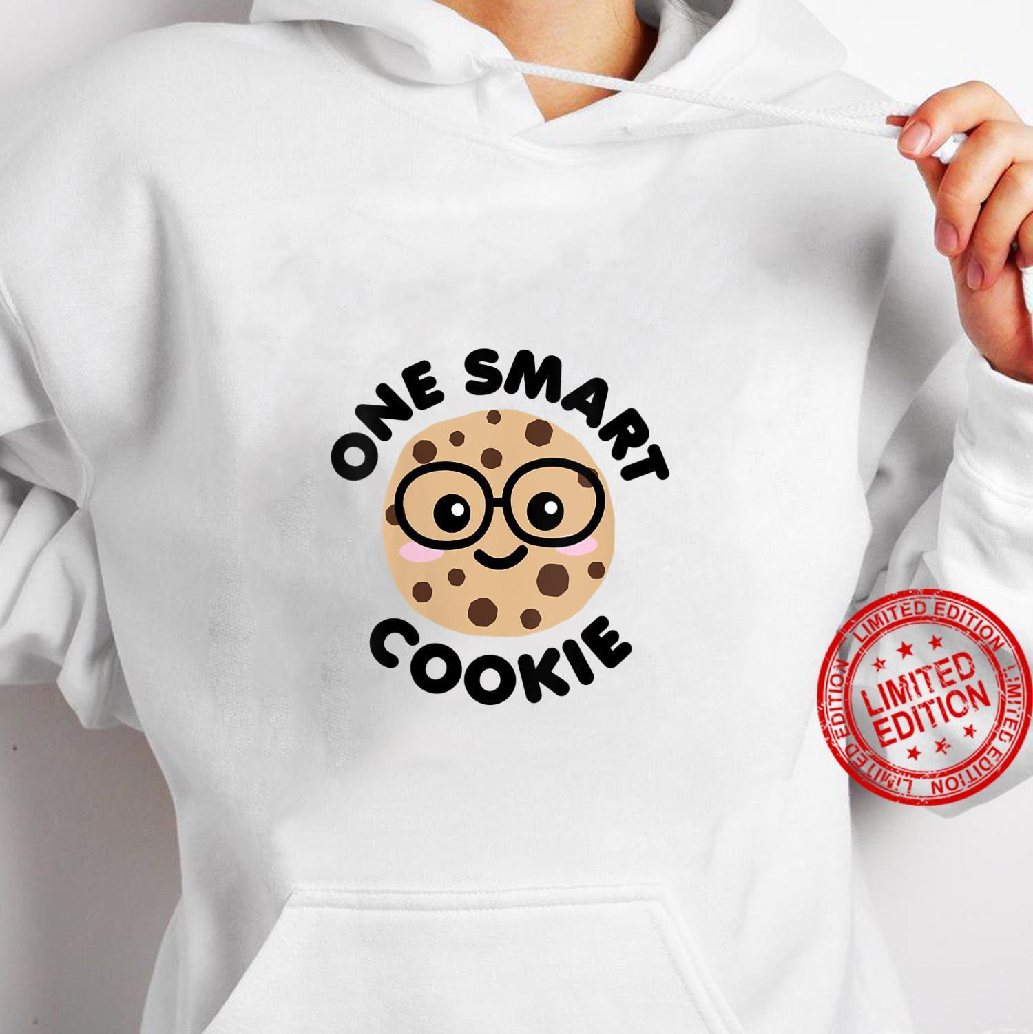 Womens One Smart Cookie Cute Kawaii Nerd Humor Foodie Shirt hoodie