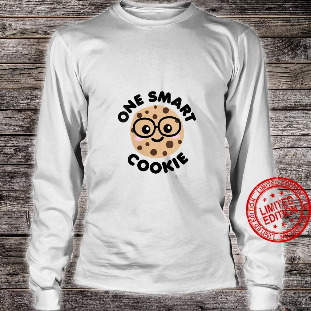 Womens One Smart Cookie Cute Kawaii Nerd Humor Foodie Shirt long sleeved