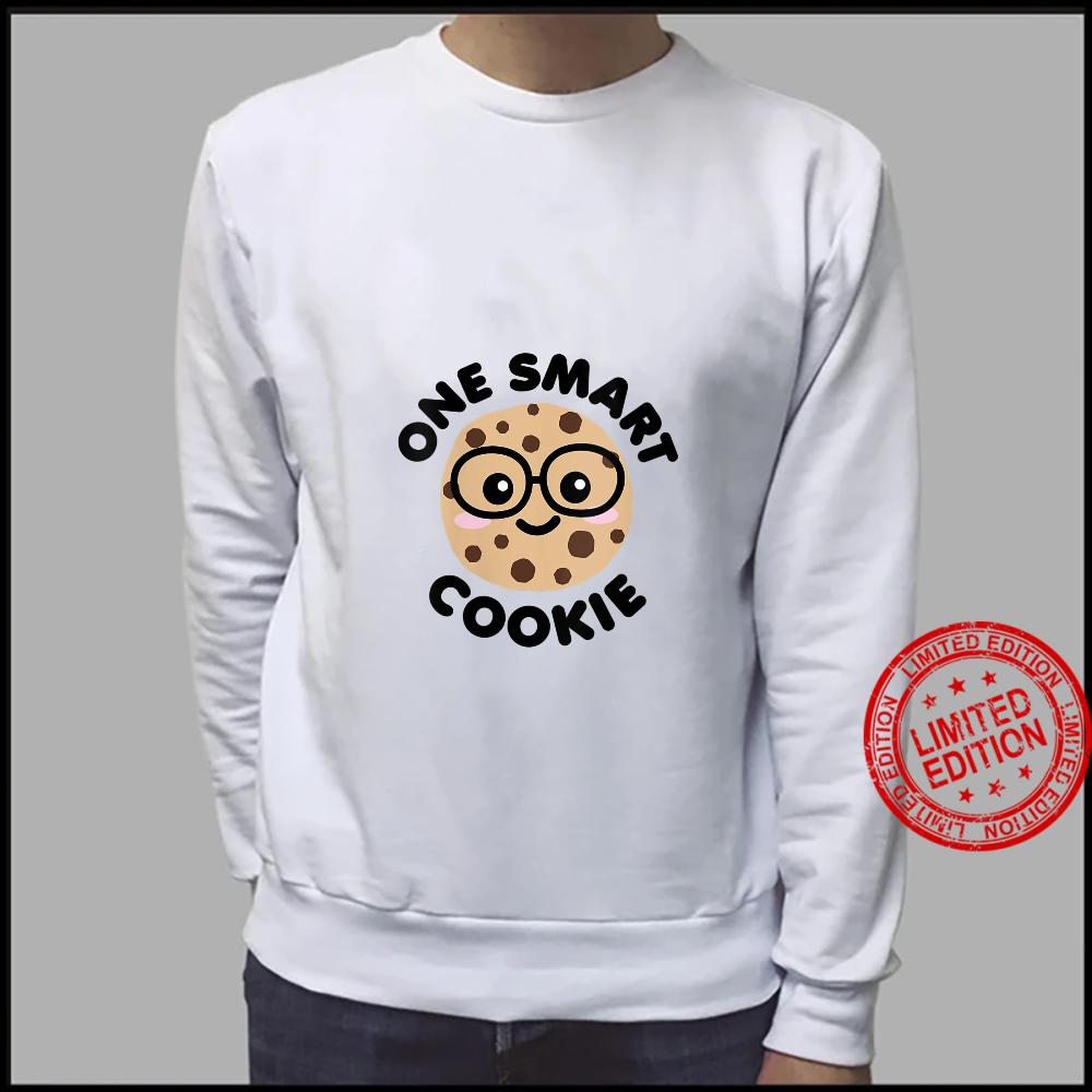 Womens One Smart Cookie Cute Kawaii Nerd Humor Foodie Shirt sweater