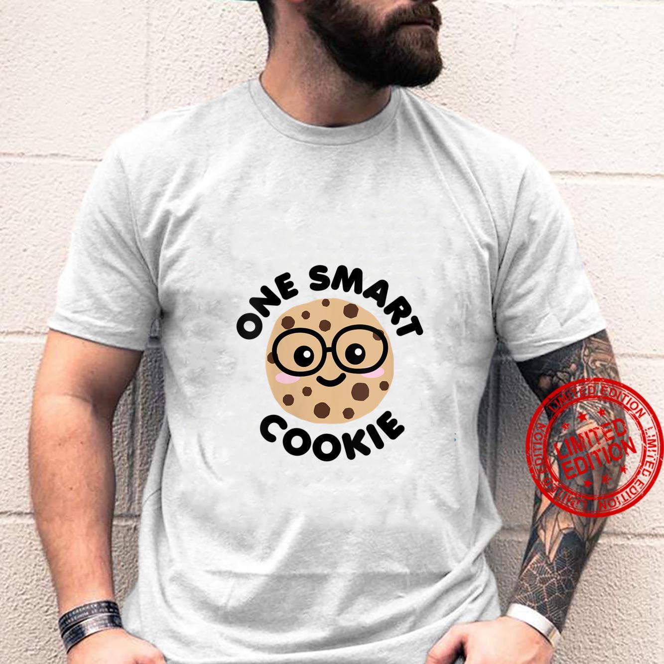 Womens One Smart Cookie Cute Kawaii Nerd Humor Foodie Shirt