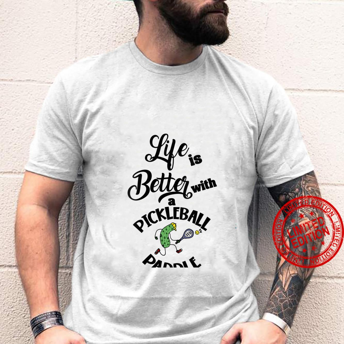 Womens Smileteessports Life is better with Pickleball Pickle Shirt